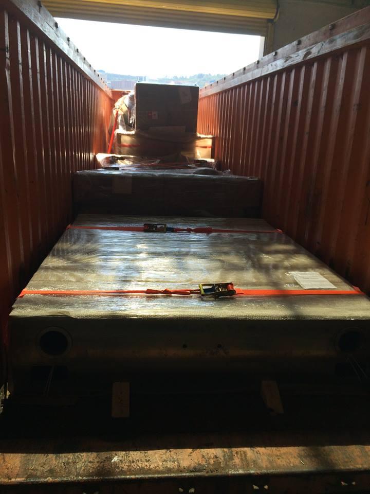 Open top konteyner lashing